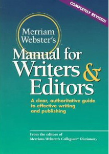 Manual for Writers & Editors